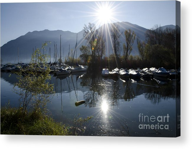 Port Acrylic Print featuring the photograph Port In Backlight by Mats Silvan