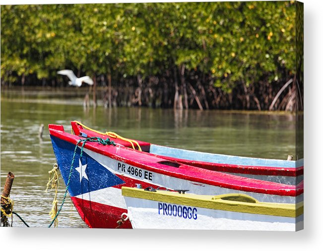 Guanica Acrylic Print featuring the photograph Puerto Rican Fishing Boats by George Oze