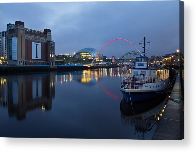 River Tyne Acrylic Print featuring the photograph Quayside Landmarks by David Pringle