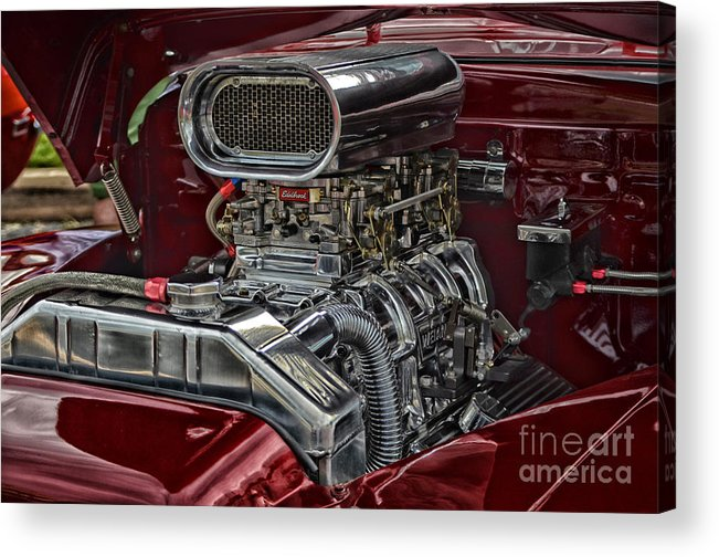 Motor Acrylic Print featuring the photograph Raw Horsepower by Tamera James