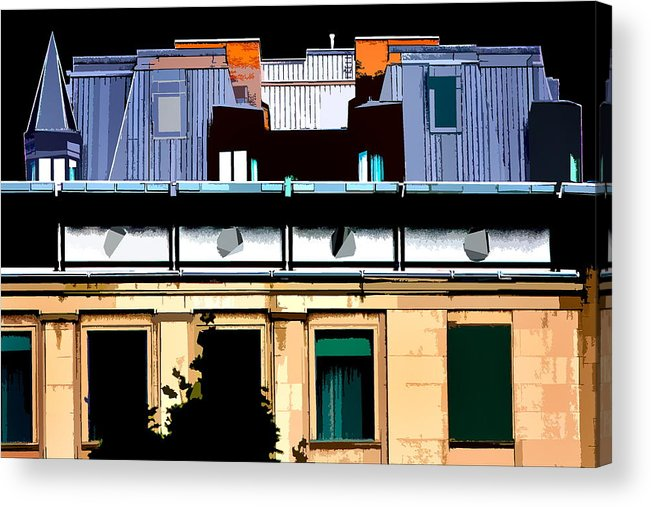 Building Acrylic Print featuring the photograph Rectangle by Burney Lieberman