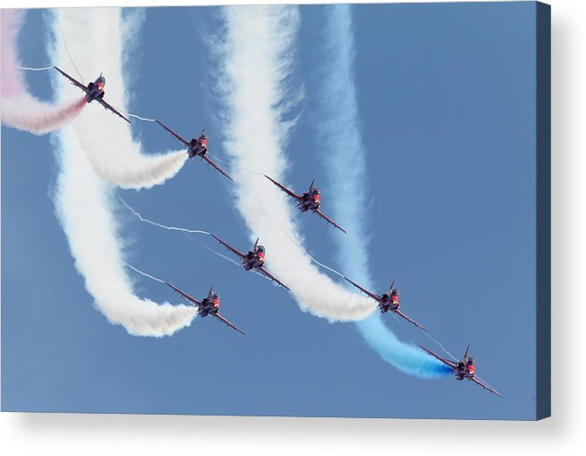 Aircraft Acrylic Print featuring the photograph Red Arrows - Formation Magic by Pat Speirs
