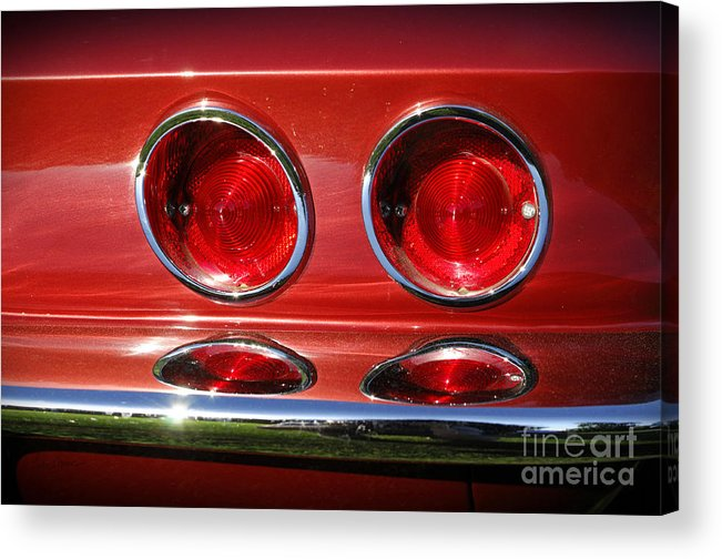 Corvette Acrylic Print featuring the photograph Red Hot Vette by Luke Moore