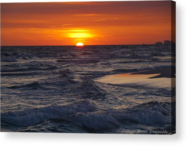 Sunset Acrylic Print featuring the photograph Red Skies At Night by Charles Warren