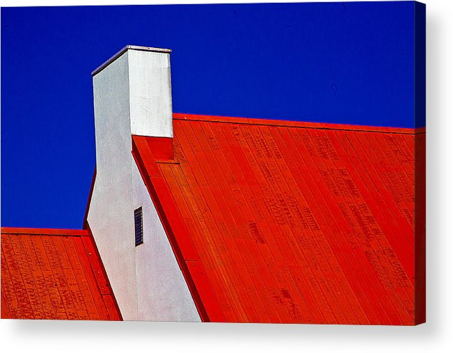 Red Acrylic Print featuring the photograph Red White And Blue by Burney Lieberman