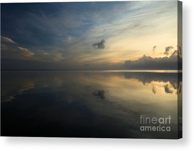 North Carolina Outer Banks Acrylic Print featuring the photograph Reflections In The Sound by Adam Jewell