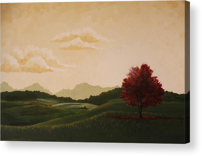 Landscape Acrylic Print featuring the painting Refuge by Kathrine McDowell