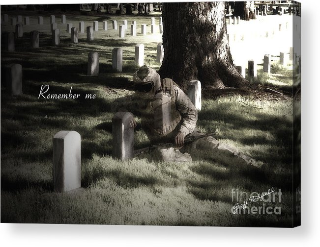 Military Acrylic Print featuring the photograph Remember Me by Benjamin Hadfield