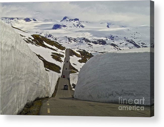 Europe Acrylic Print featuring the photograph Road To Nowhere by Heiko Koehrer-Wagner