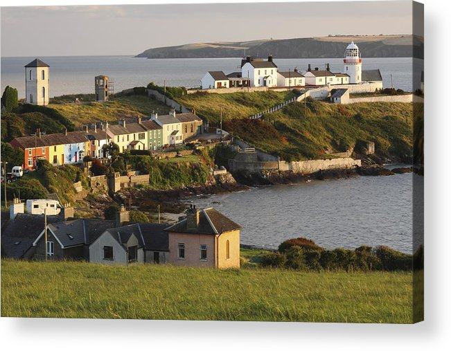 Munster Province Acrylic Print featuring the photograph Roches Point Lighthouse In Cork Harbour by Trish Punch
