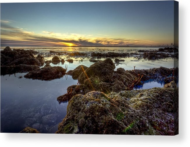 Beautiful Acrylic Print featuring the photograph Rocky Sunset by Brian Leon