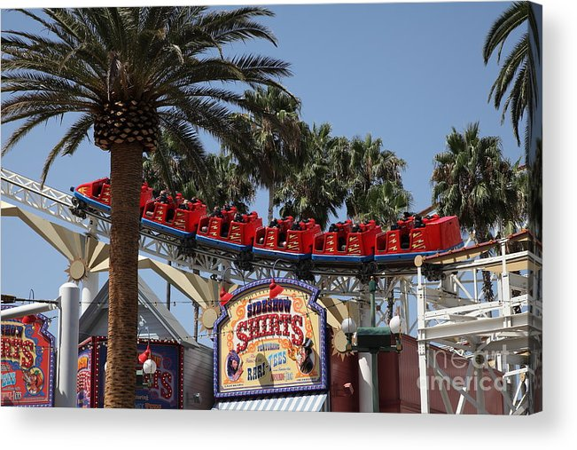 Disney Acrylic Print featuring the photograph Roller Coaster - 5d17628 by Wingsdomain Art and Photography