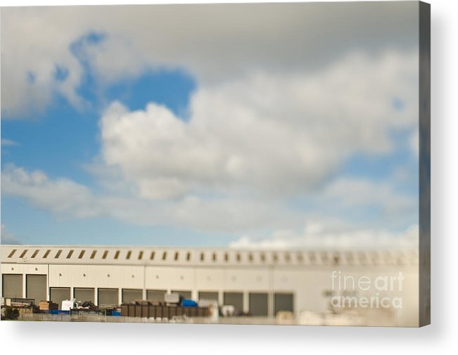 Architecture Acrylic Print featuring the photograph Rolling Doors Of A Warehouse by Eddy Joaquim