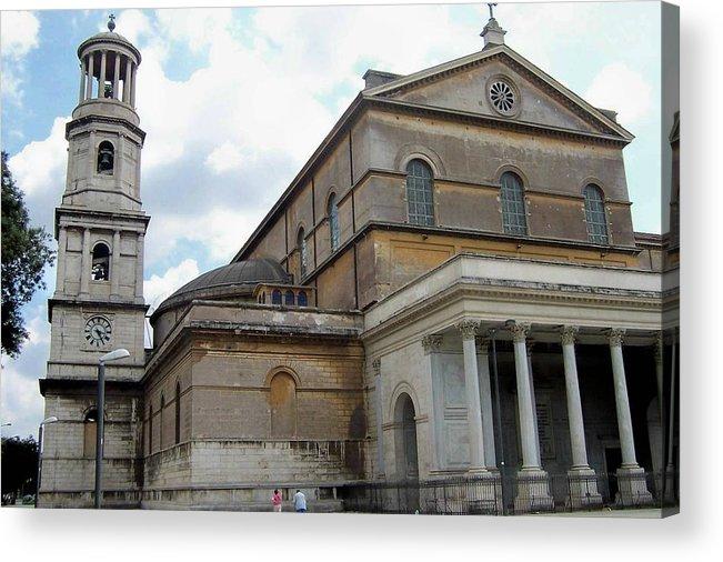 Italy Acrylic Print featuring the photograph Roman Church by Ashley Borchers