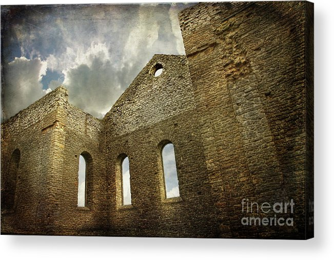 Architecture Acrylic Print featuring the photograph Ruins Of A Church In Ontario by Sandra Cunningham