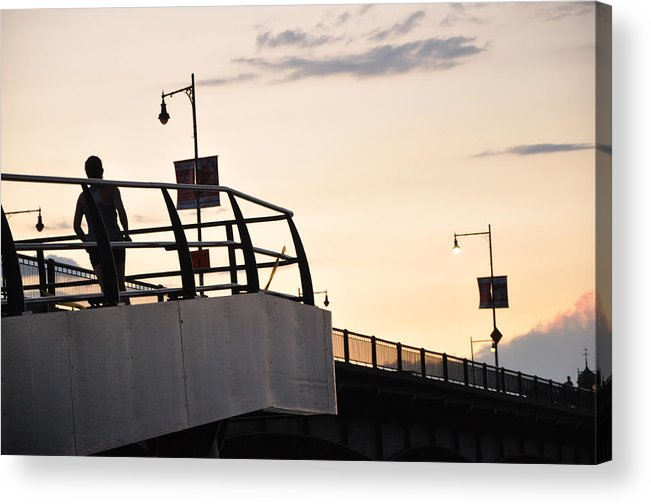 Acrylic Print featuring the photograph Running The Bridge by Dominic Stringer