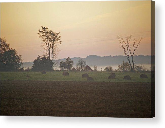 Sunrise Acrylic Print featuring the photograph Rural Sunrise by Elaine Mikkelstrup