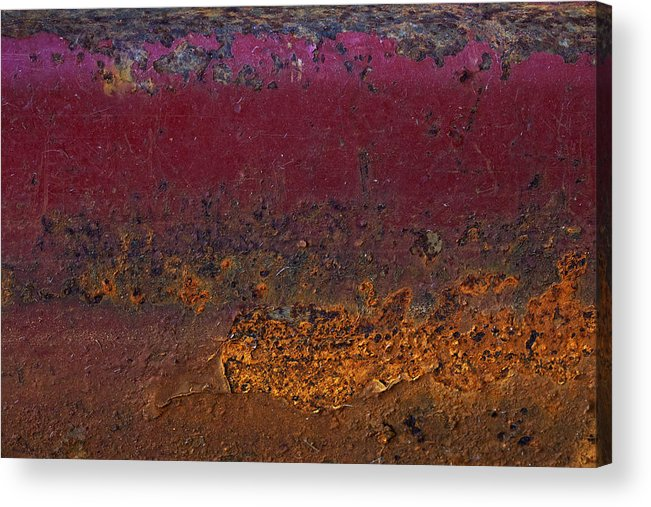 Rust On Wagon Acrylic Print featuring the digital art Rusted Wagon Abstract by Susan Stone
