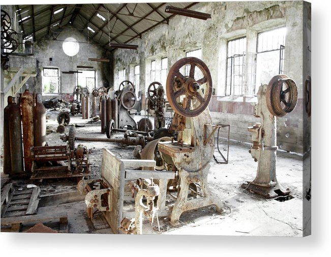 Abandoned Acrylic Print featuring the photograph Rusty Machinery by Carlos Caetano