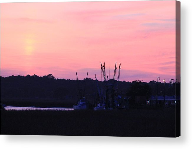 Sunset Acrylic Print featuring the photograph Sailors Delight by David White