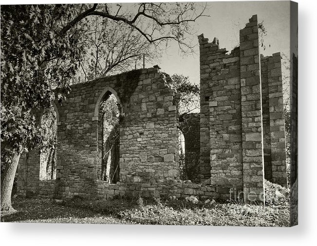 Ruins Acrylic Print featuring the photograph Saint Johns Chapel One by Susan Isakson