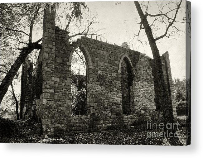 Ruins Acrylic Print featuring the photograph Saint Johns Chapel Two by Susan Isakson
