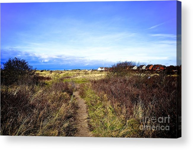 Hightown Acrylic Print featuring the photograph Sand Dunes by Helen Esdaile