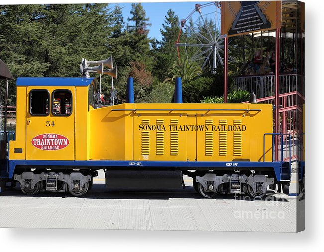 Sonoma Acrylic Print featuring the photograph Scale Locomotive - Traintown Sonoma California - 5d19237 by Wingsdomain Art and Photography