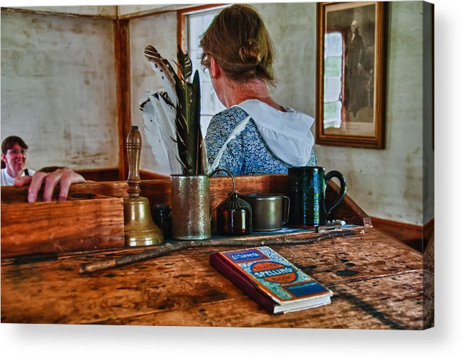 Guy Whiteley Photography Acrylic Print featuring the photograph Schoolmarm's Desk by Guy Whiteley