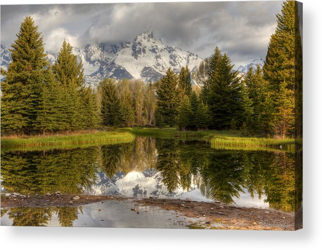 Grand Tetons Acrylic Print featuring the photograph Schwabacher's Landing by Charles Warren