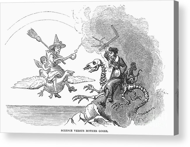 1876 Acrylic Print featuring the photograph Science Vs. Mother Goose by Granger