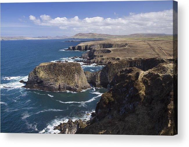 Seascape Acrylic Print featuring the photograph Sea Cliffs And Coastline Near Erris by Gareth McCormack