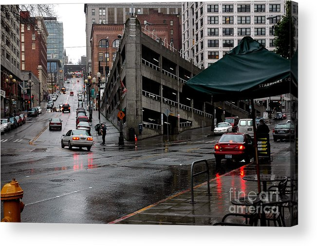 Seattle Acrylic Print featuring the photograph Seattle Parking Garage Orig by Nancy Greenland