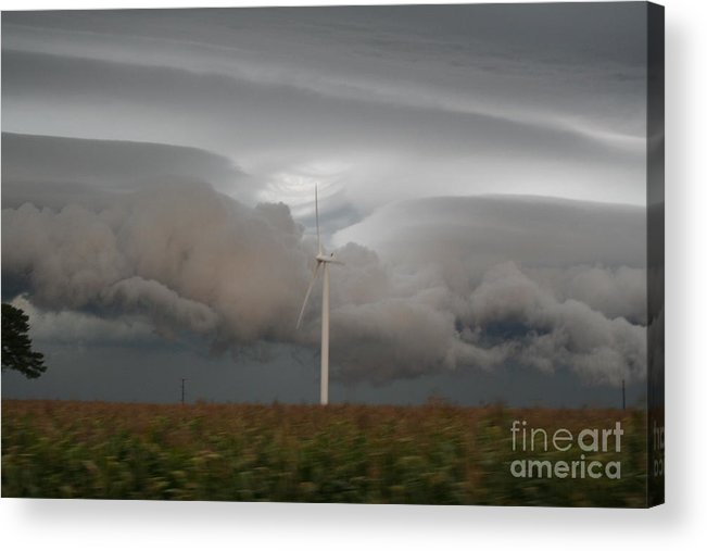 Shelf Acrylic Print featuring the photograph Shelf Cloud 11 by Roger Look