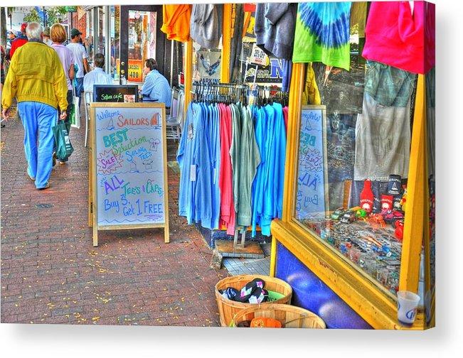 Shop Acrylic Print featuring the digital art Shopping by Barry R Jones Jr