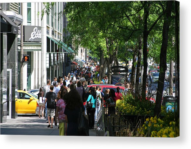 Chicago Acrylic Print featuring the photograph Shopping On Michigan Ave by Julie Wall