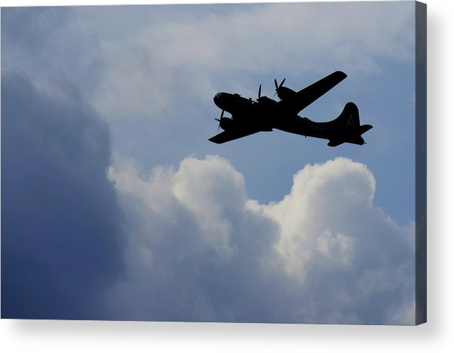 B 29 Acrylic Print featuring the photograph Silhouette by Dieter Lesche