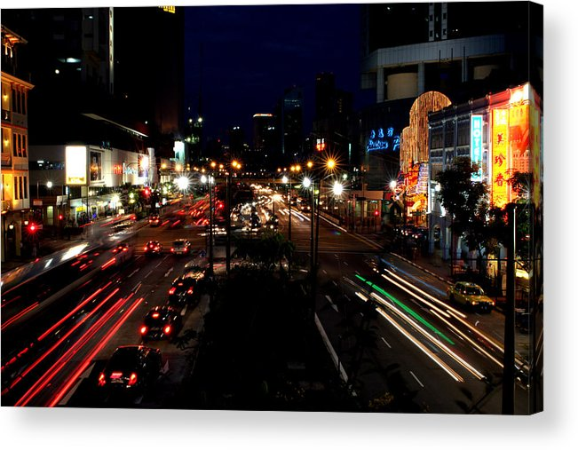 Singapore Acrylic Print featuring the photograph Singapore Nights by Robert Stephenson