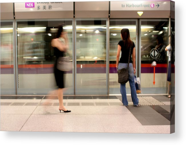 Train Acrylic Print featuring the photograph Singapore Tube by Robert Stephenson