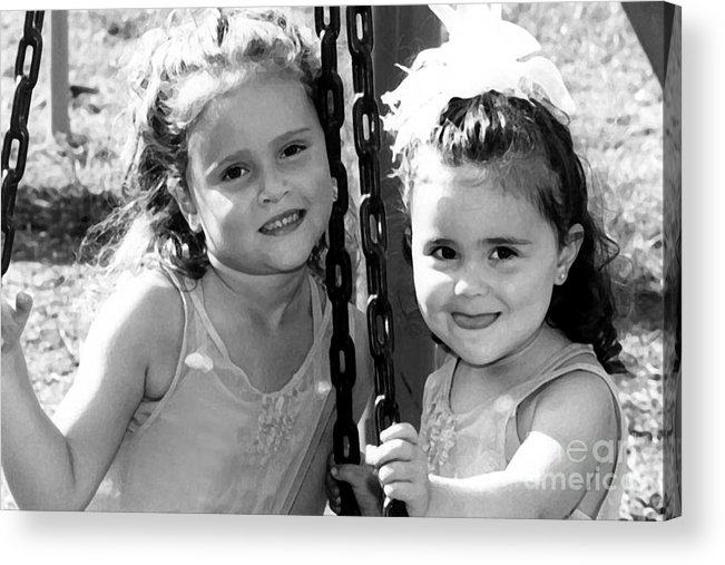 People Acrylic Print featuring the photograph Sisters Portrait by Susan Stevenson