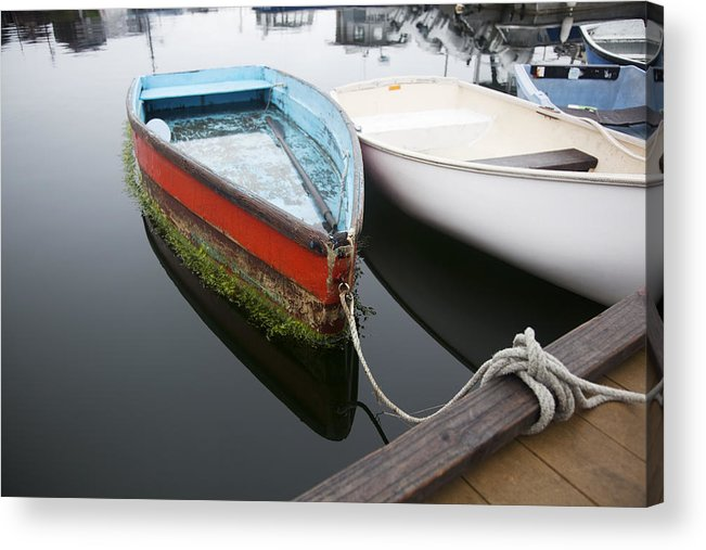 Atlantic Acrylic Print featuring the photograph Small Boat In Harbor by Jenna Szerlag