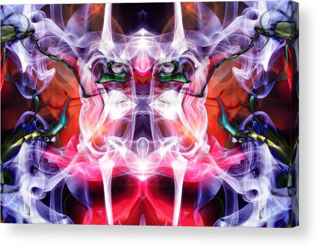 Smoke Dementia Acrylic Print featuring the photograph Smoke Dementia Number Three Edit D by Nawfal Nur