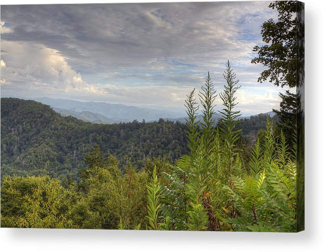 Smoky Mountains Acrylic Print featuring the photograph Smoky Mountain View by Mike Aldridge
