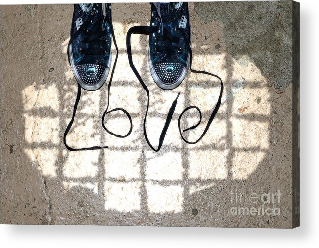 Sneaker Acrylic Print featuring the photograph Sneaker Love 1 by Paul Ward