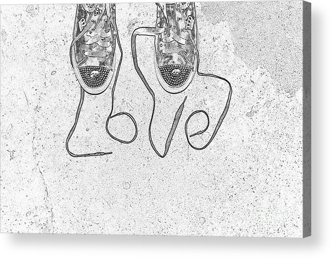Sneaker Acrylic Print featuring the photograph Sneaker Love 2 by Paul Ward