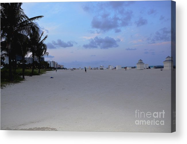 South Beach Acrylic Print featuring the photograph South Beach by Pravine Chester