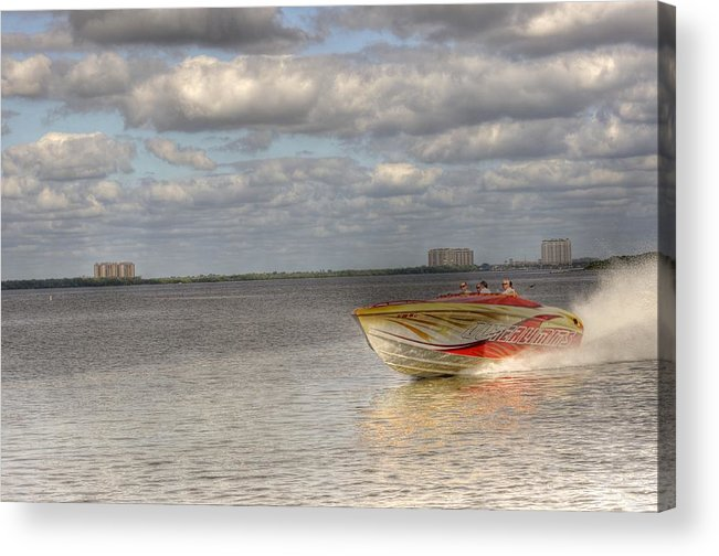 """""""live Life's Adventures"""" Acrylic Print featuring the digital art Speed by Barry R Jones Jr"""