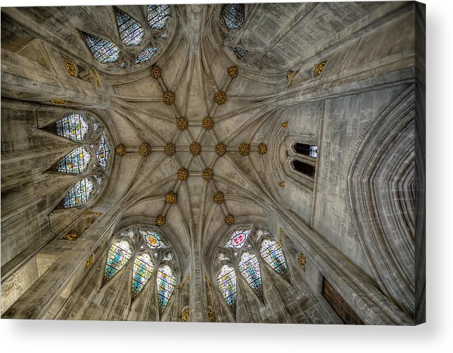 Architecture Acrylic Print featuring the photograph St Mary's Ceiling by Adrian Evans