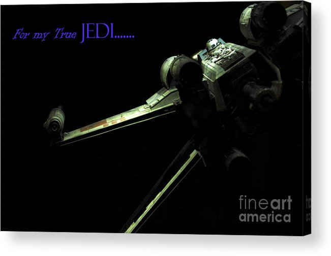 Star Wars Acrylic Print featuring the photograph Star Wars Jedi Card by Micah May