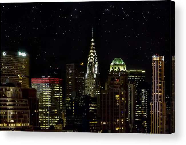 Buildings Acrylic Print featuring the photograph Starry Night by Janet Fikar